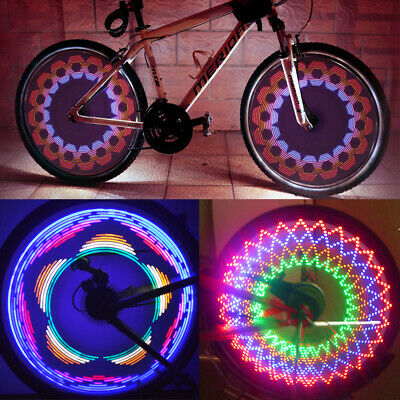 2X Bicycle Wheel 32 Pattern Tire Spoke Light Signal Rim LED Colorful Bike Night • 5.99£