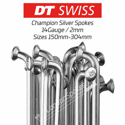 DT SWISS Silver Stainless Steel Bicycle Spokes & Nipples, Sizes 150mm-262mm • 4.50£
