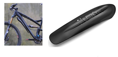 Crud Catcher Mountain Bicycle Downtube Mounted Front Mudguard - Black • 8.99£