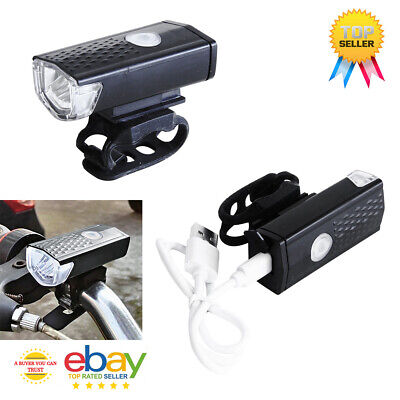 Bike Front Light USB Rechargeable LED Lamp Cycling Bicycle • 4.99£