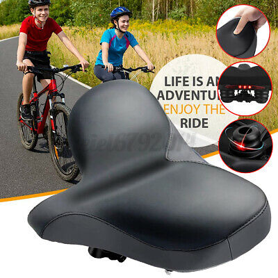 Bicycle Saddle Comfort Wide Big Bum Bike Extra Sporty Soft Pad Seat +Tail  • 18.94£