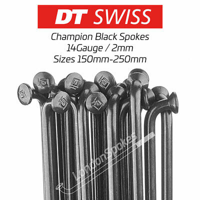 DT SWISS Black Stainless Steel Bicycle Spokes & Nipples, Sizes 150mm-267mm  • 4.50£
