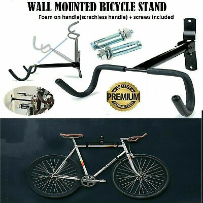 Bike Bicycle Wall Mounted Rack Storage Hanger Holder Hook Folding Space Saver • 8.99£