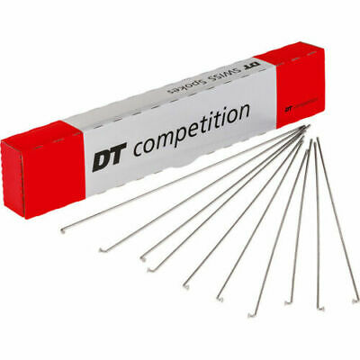 Qty:8 DT Swiss Competition J Bend 14 / 15 G = 2 / 1.8 Mm Spoke Silver • 6.40£