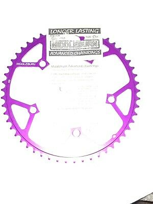 Middleburn Chainring 53t 130mm BCD Purple Anodised Alloy • 20£
