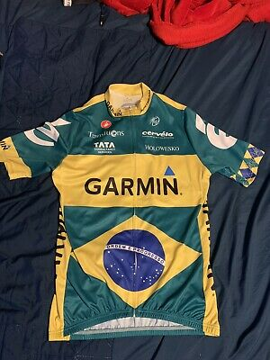 Garmin Brazilian Champion Cycling Jersey Replica Size XL • 20£