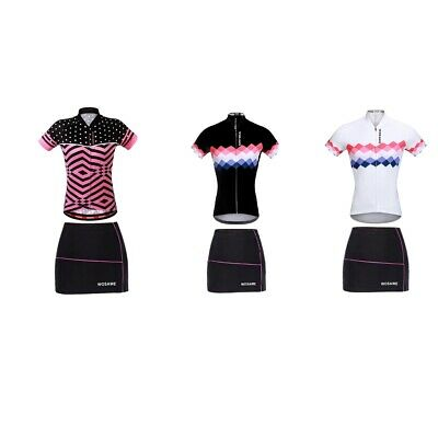 Pro Cycling Short Sleeve Mountain Bike Skirts Shorts Set Cycle Jersey Women • 25.63£