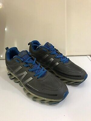 Adidas Looking Sports Trainers Blue And Grey Size Uk8 • 27£
