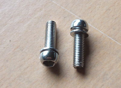 4 X M6 Dome Head Stainless Steel Bolts For Stems - Also Good For Brakes • 2.19£