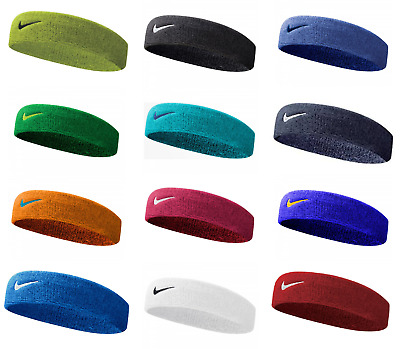 Nike Swoosh Headband Gym Tennis Training Sweatband Sports Running Sweatband Fit • 6.49£