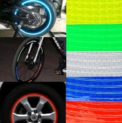 8X8mm Reflective Bike Wheel Rim Sticker Hi Vis Safety Bicycle Cycling Reflector  • 2.99£