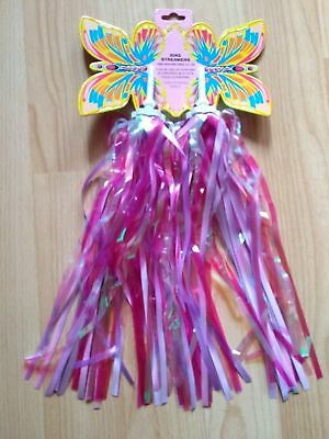 Pair Of Pink Childrens Child's Cycle / Bike Handlebar Sparkle Streamers Tassles • 4.25£