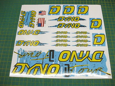 Set Of Dyno D Tour BMX Stickers Blue, Yellow & Black • 9.54£