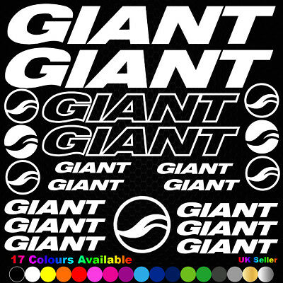 Giant Vinyl Decals Stickers Sheet Bike Frame Cycle Cycling Bicycle Mtb Road • 3.89£