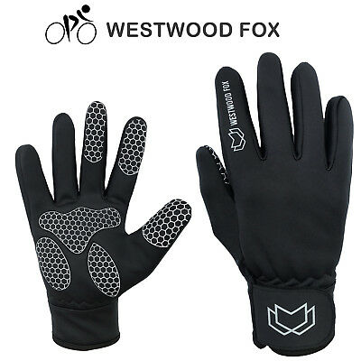 Men Cycling Gloves Full Finger Bicycle Palm Gel Silicone Windproof Winter Gloves • 6.99£