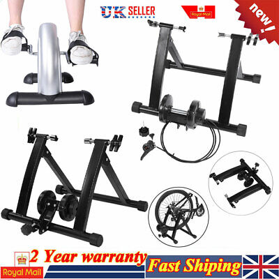 New Magnetic Indoor Turbo Trainer Road Bike Resistance Training Pedal Trainer • 31.79£