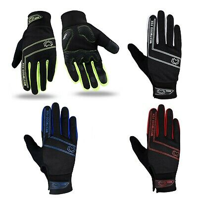 WFX Cycling Gloves Full Finger Winter Windproof Waterproof Touchscreen Gel Palm • 8.99£
