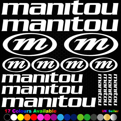 MANITOU Vinyl Decals Stickers Bike Frame Cycle Cycling Bicycle Mtb Road • 3.89£
