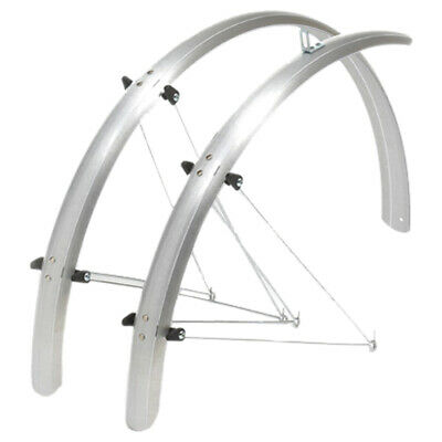 Oxford 700C / 27  STD Bicycle Cycle Bike Mudguards Silver - 41 MM • 21.99£