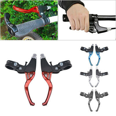 Lightweight ALLOY Brake Levers 2-finger Mountain Bike Bicycle BMX MTB V-Brake • 9.09£