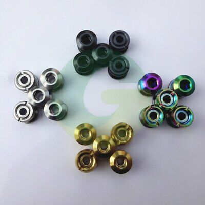 Pack Of 5 Bicycle Titanium Double Speed Chain Ring Chainset Bolts Nuts 4 Colours • 13.59£