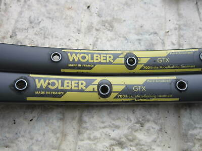 Vintage Pair Of Wolber GTX 700c Double Wall  Rims ( One Eyelet Missing ) • 15£