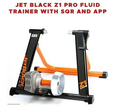 Jet Black Z1 Pro Fluid Trainer With SQR And APP - Bicycle Trainer Stand • 32.08£