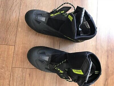 Gaerne Cycling Boots - With Cleats. Size EU42 (size 8). Black. Lace And Velcro • 25£