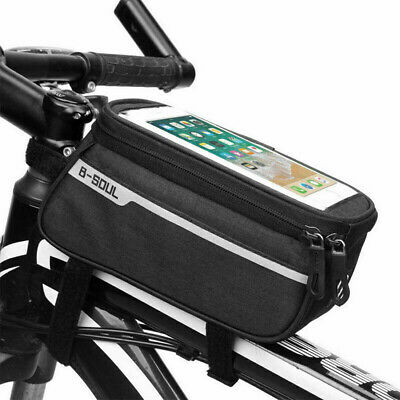 Bicycle MTB Bike Bag Frame Pannier Cross Bar Top Tube Waterproof Phone Holder • 8.87£