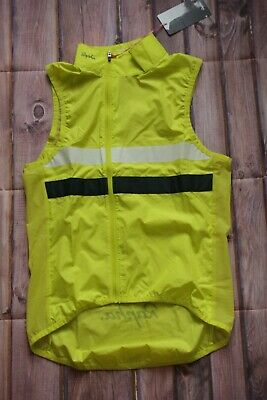 Mens Rapha Brevet Gilet Vest With Pockets Size X-Small XS BNWT Yellow L@@K • 59.99£