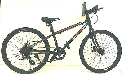 Childs Kids Bike Bicycle In 24 Inch Wheels 8 Shimano Gears Black Or White  • 189.95£