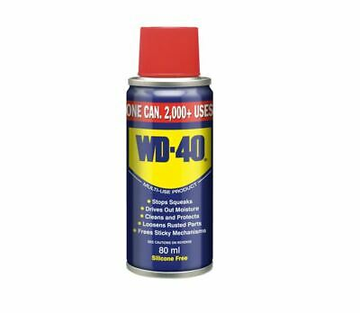 WD40 80ml Multi-Use Lubricant Spray To Clean Lubricate Protect Care Cars Bikes • 3.59£
