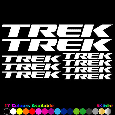 TREK Vinyl Decals Stickers Bike Frame Cycle Cycling Bicycle Mtb Road • 2.99£