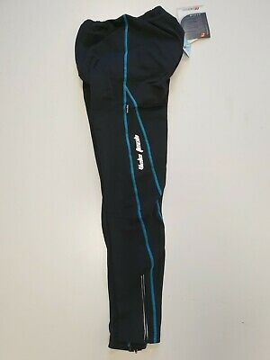 Womens Cross Road Cycling Black Turquiose Cool Max Padded Trousers S, L, Xl, 2xl • 12.99£