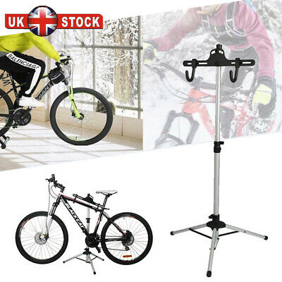Bicycle Bike Home Adjustable Repair Mechanic Maintenance Stand Workstand Silver • 18.98£