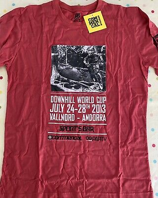 Commencal Bikes World Cup Andorra 2013 T -Shirt New Red Size Large Rare • 9.99£