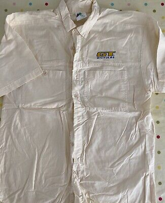 GT Bicycles Casual Shirt Used Off White Size Medium BMX MTB Retro Circa 1995 • 9.99£