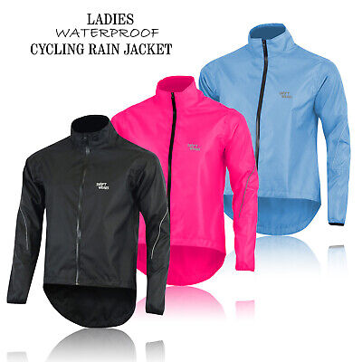 Ladies Cycling Waterproof Rain Jackets High Visibility Running Women Top Coat • 13.99£