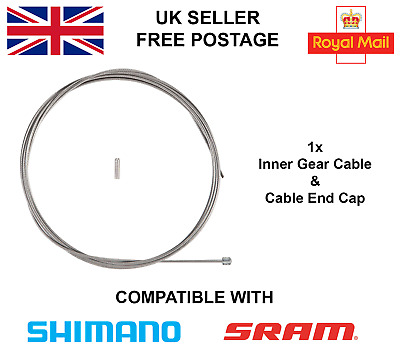 New Inner Gear Cable & Cable End Cap For Mountain / Road Bike Shimano & Sram  • 1.59£