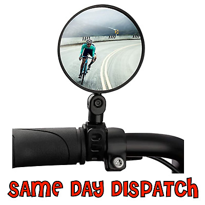1x MTB Mountain Bike Handle Bar 360 Rotateable Convex Bicycle Rearview Mirror UK • 2.49£