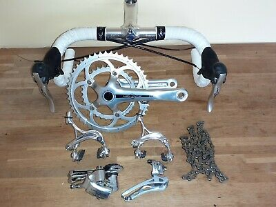 Campagnolo Veloce 10 Speed Silver Double Groupset With Bars And Stem. • 132£