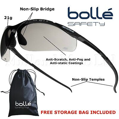 Bolle Contour Smoked Lens Safety Sunglasses CONTPSF • 10.83£