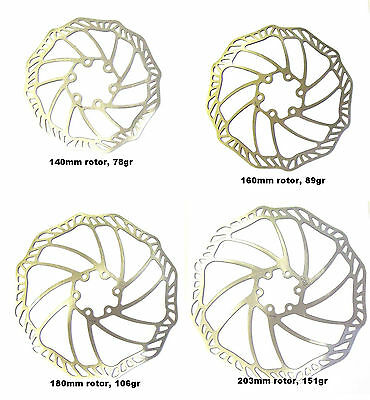 PROMAX Ultra Light Stainless Disc Brake Rotors, All Sizes, AVID/HAYES/SHIMANO • 8.95£