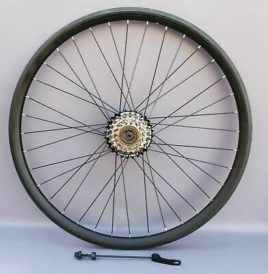 26  Disc Brake Mtb Rear Wheel  7 / 8 Speed Cog Fitted, Double Wall Rims + Rotors • 56.95£