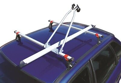 Maypole Car Roof Bar Mounted Upright Stand Cycle Bike Travel Rack Carrier - 15kg • 21.99£