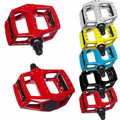 "Bicycle Mountain Mtb Bmx Bike Cycling Bearing Alloy Flat-platfrom Pedals 9/16"" • 6.95£"