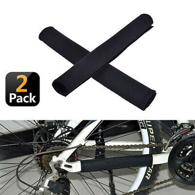 2 X Neoprene Bike Bicycle Chainstay Frame Protector Cover Chain Stay Guard NEW • 2.99£