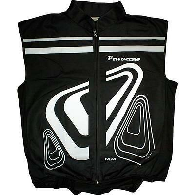 Two Zero Verso High-Vis Gilet Black Reflective Cycling Safety Jacket New • 14.99£