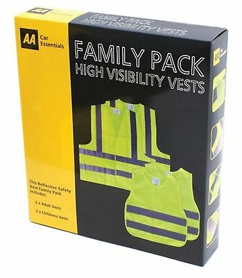 High Visibility Safety Vests  AA Family Pack • 7.99£