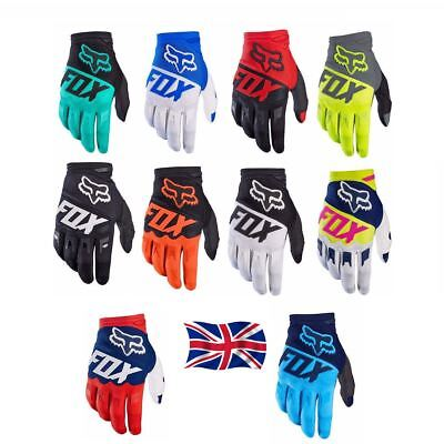 2018 NEW FOX Glove Racing Motorcycle Gloves Cycling Bicycle MTB Bike Riding • 10.99£